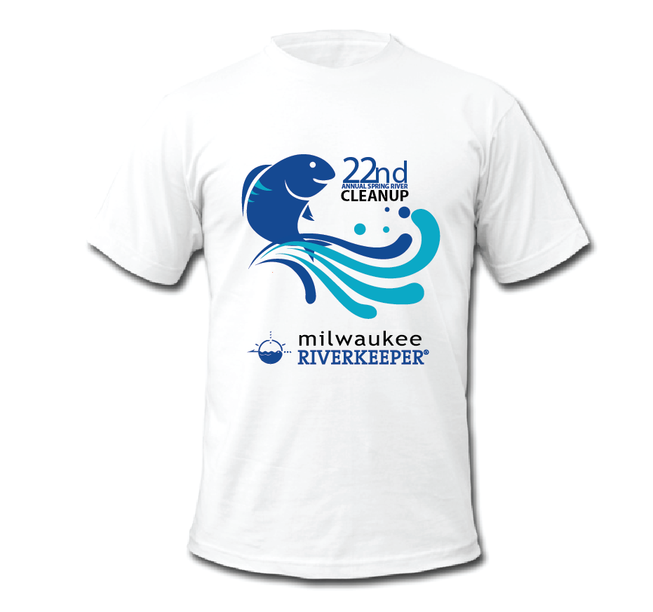 T Shirt Mockup Milwaukee Riverkeeper